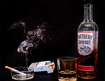 Курение после выпивки